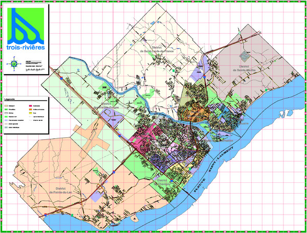 Trois Rivieres City Map