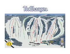 Trollhaugen Ski Area Ski Trail Map