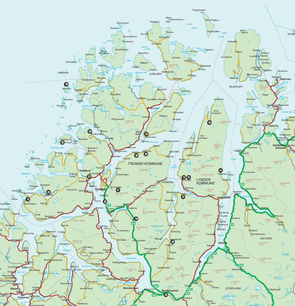 Street map Tromso Norway ai