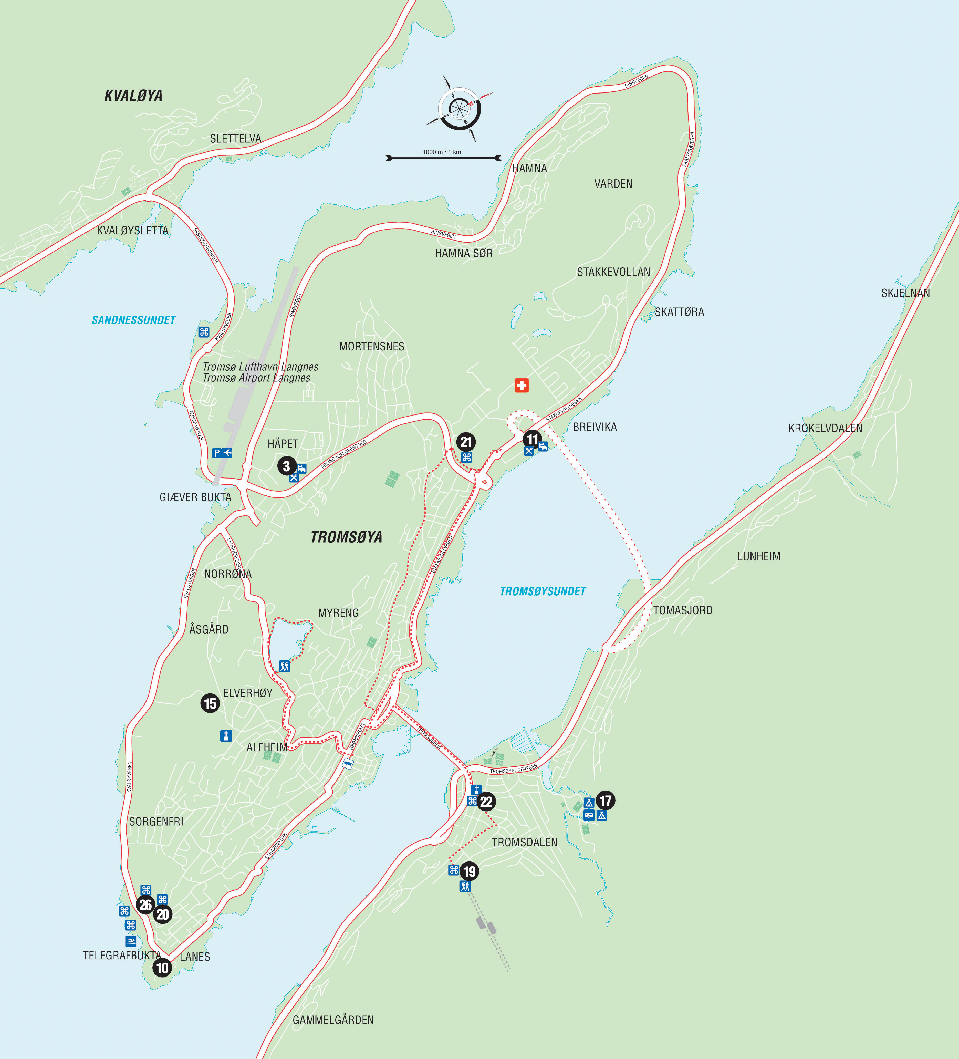 Norway Map – Oslo to Tromso – Image Copyright Google Maps – All ...