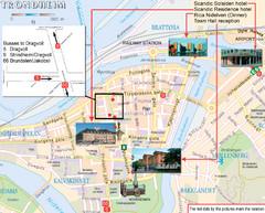 Trondheim Tourist Map Trondheim Norway mappery
