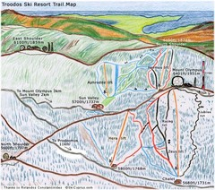 Troodos Ski Trail Map
