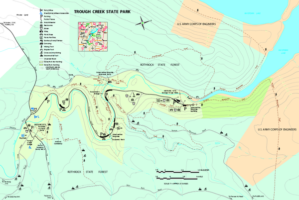 Trough Creek State Park map