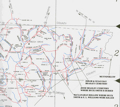 Trousdale County Muttonbluff Map