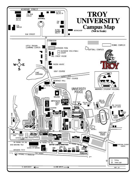 Troy University Map   Troy Alabama • mappery