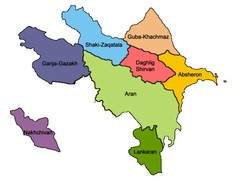 True map of Azerbaijan
