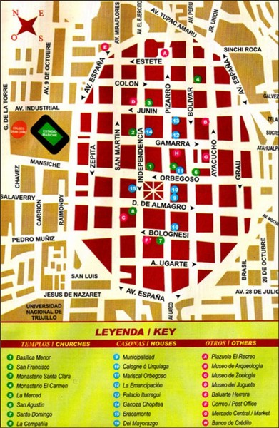 Trujillo Tourist Map