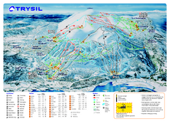 Trysil Ski Trail Map