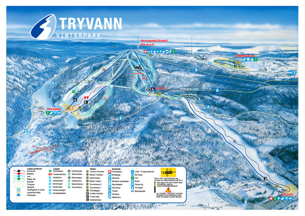 Tryvann Vinterpark Ski Trail Map