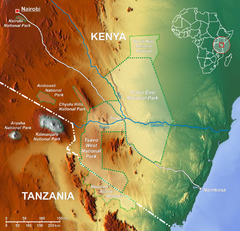 Tsavo National Park Map