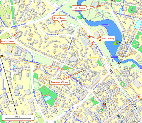 Tsentralny District, Minsk Tourist Map