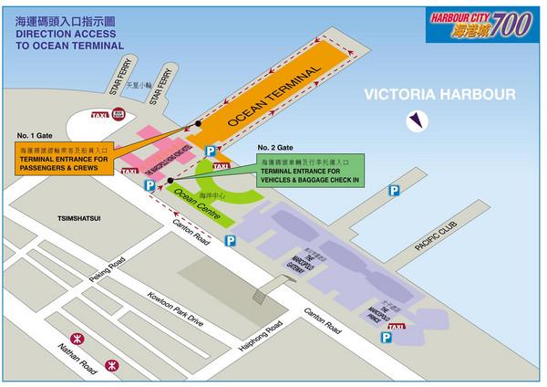 Tsim Sha Tsui Ferry Terminal Map  Tsimshatsui  Mappery