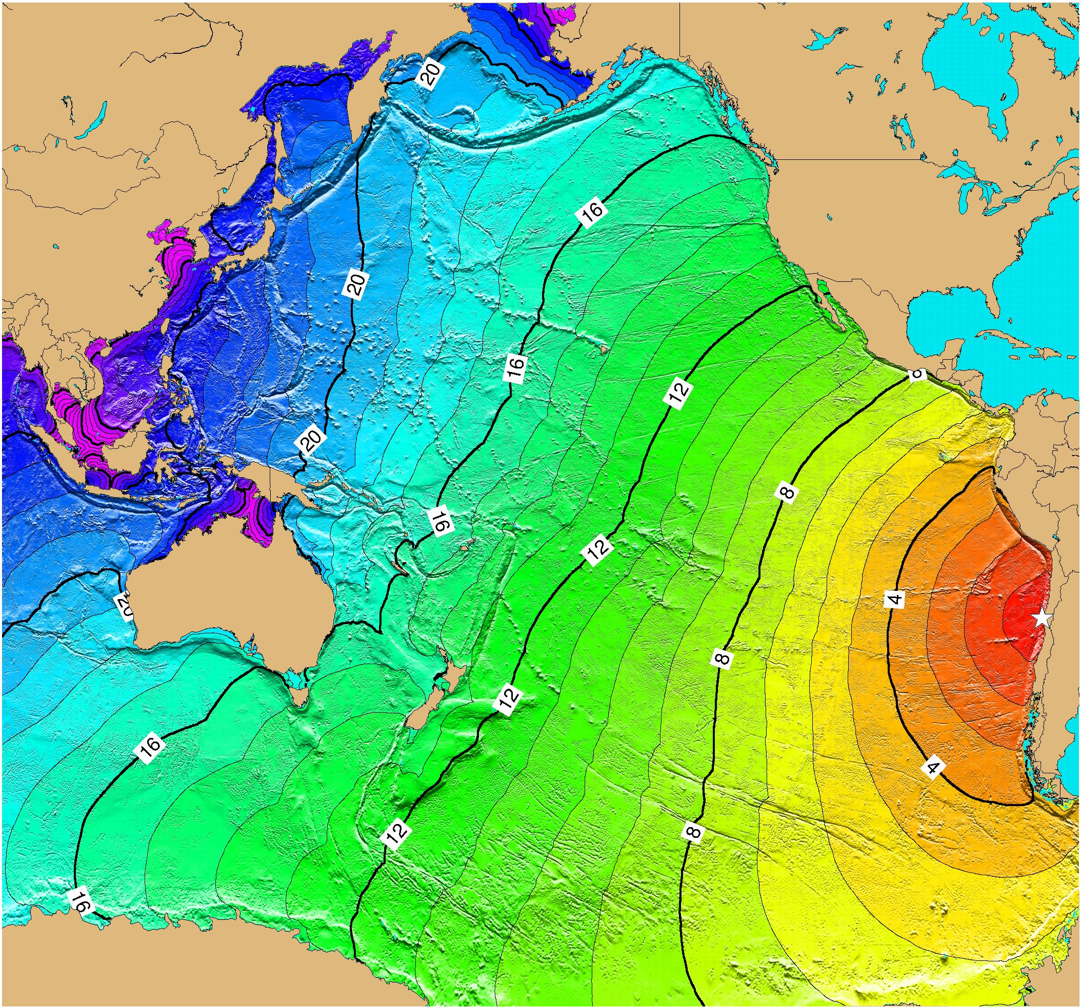 Tsunami Time Travel to Chile Map See map details From ngdc.noaa.gov