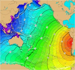 Tsunami Time Travel to Chile Map