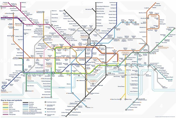 Tube Map London England mappery