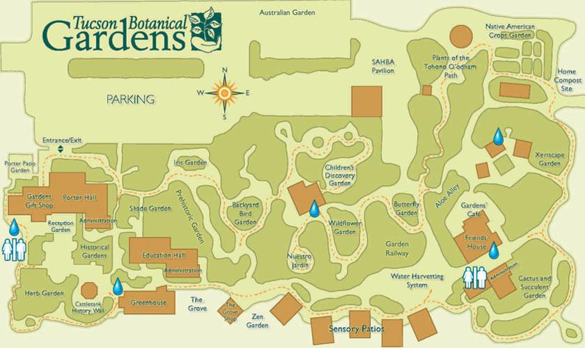 Tucson Botanical Gardens Map   Tucson AZ U2022 Mappery
