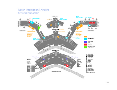 Tucson International Airport Terminal Map