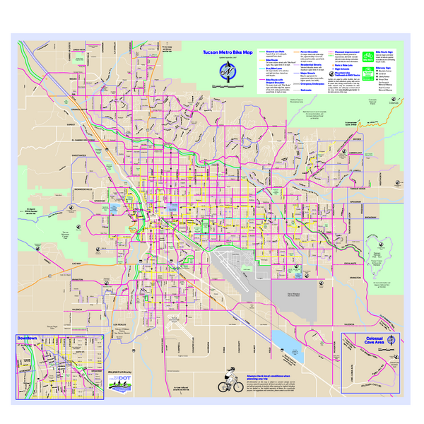 Tucson Metro Bike Map - Tucson Arizona • mappery on arizona trail map, sedona arizona map, gila arizona map, kingman arizona map, arizona weather, arizona airports, arizona us map, arizona counties map blank, arizona mountains map, arizona industry map, arizona voting precincts map, jerome arizona map, grand canyon arizona map, arizona road map, western arizona map, arizona tribes map, arizona counties and cities, arizona elevation map, arizona cities map, arizona topographic map,