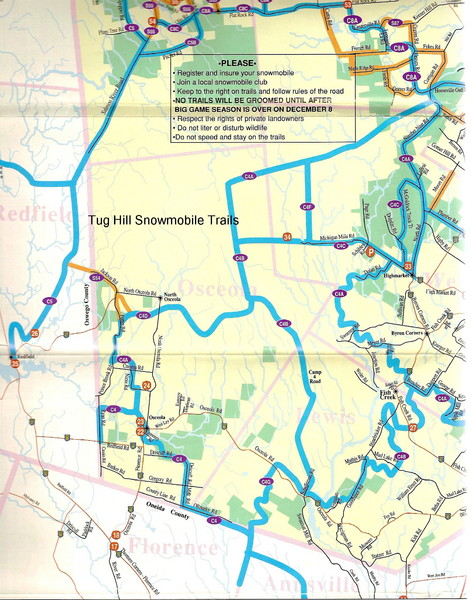 Tug Hill Trail Map Tug Hill NY US Mappery - Us trails map