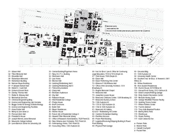 tulane uptown campus map Tulane University Map Tulane University Mappery tulane uptown campus map