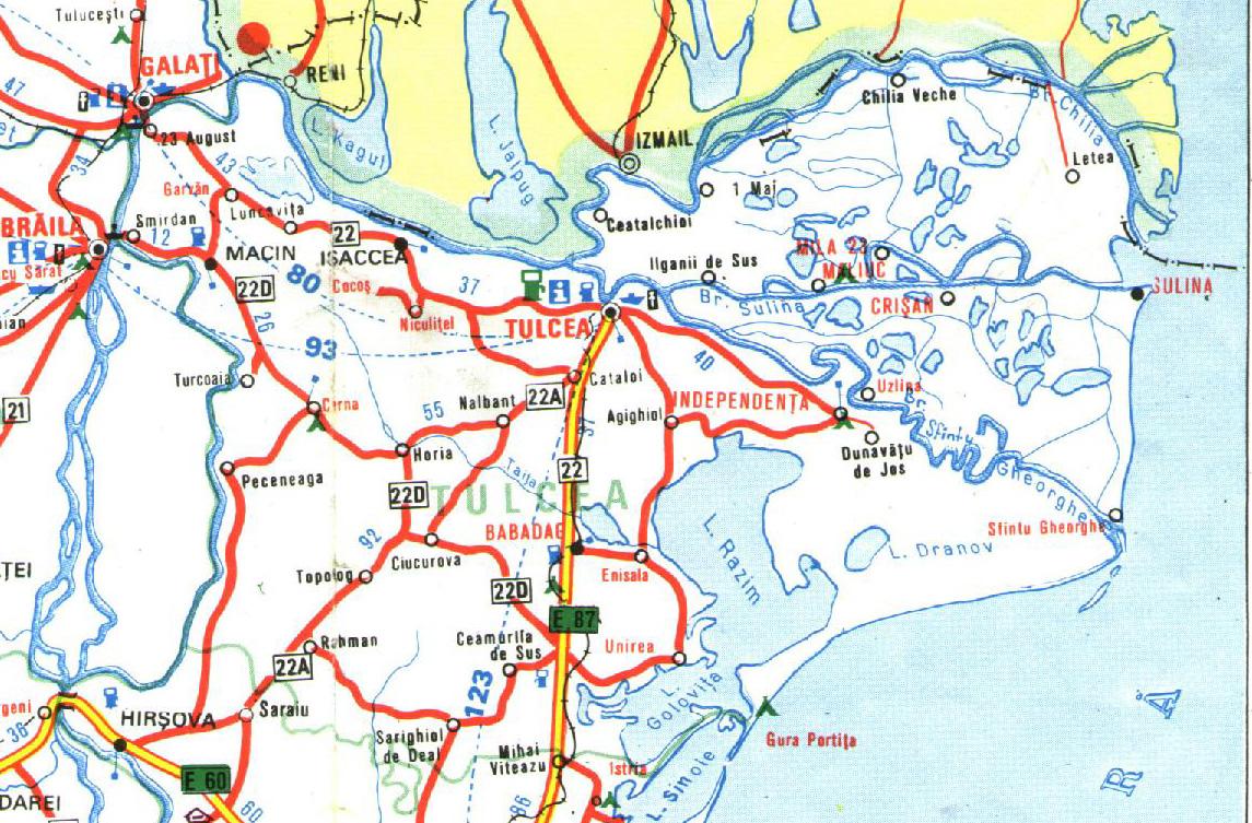 Tulcea Romania Road Map Tulcea Romania Mappery