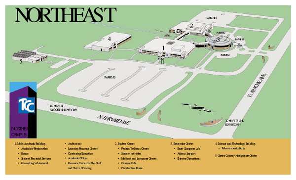 Tulsa Community College   Northeast Campus Map   3727 E Apache