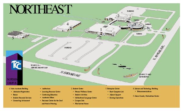 tcc northwest campus map