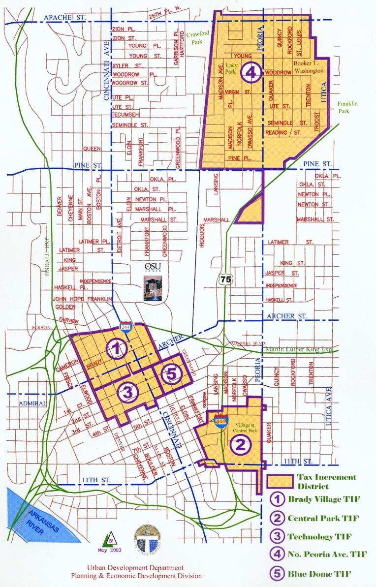 Tulsa Oklahoma City Map Tulsa Oklahoma mappery