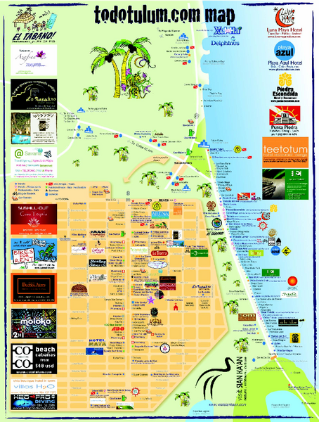 Tulum Tourist Map 2009 Tulum Mexico mappery