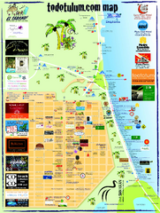 Tulum Tourist Map 2009