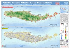Tunami Affected Areas of Choiseul Island Map