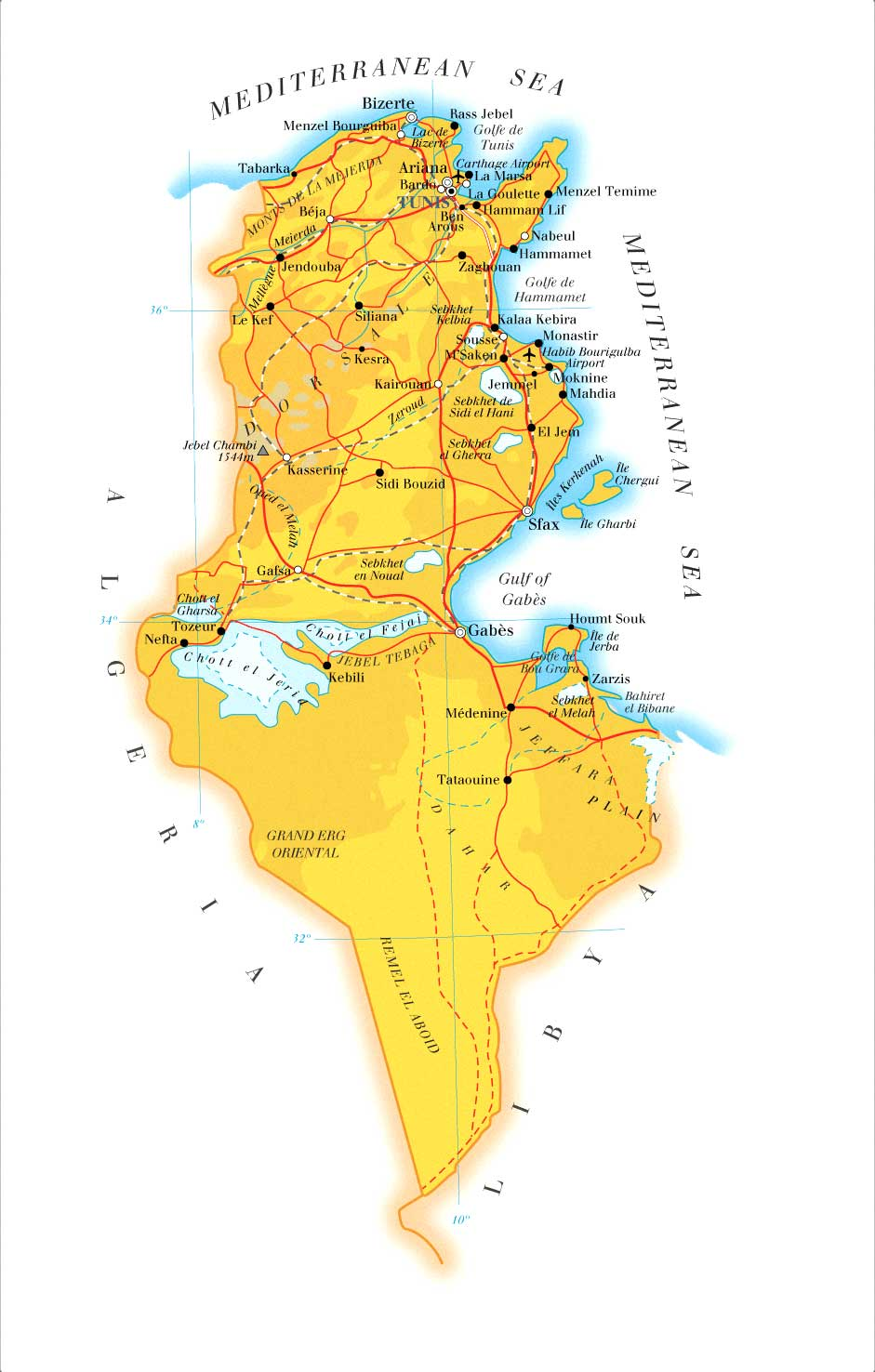 Tunisia Map mappery