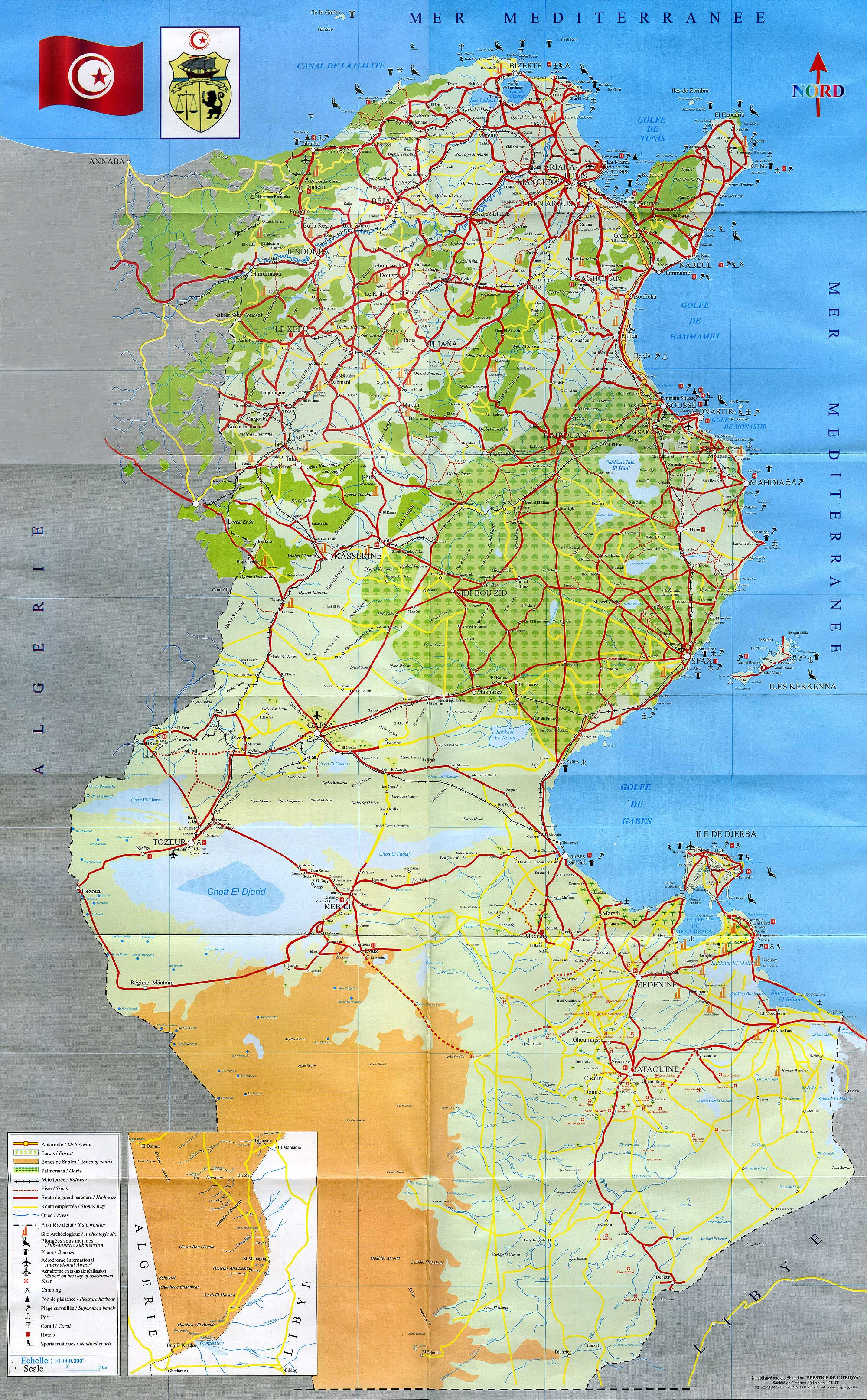 Tunisia Travel Maps | Metro Map | Bus Routes | Metrobus Way Map ... Tunisia Travel Maps