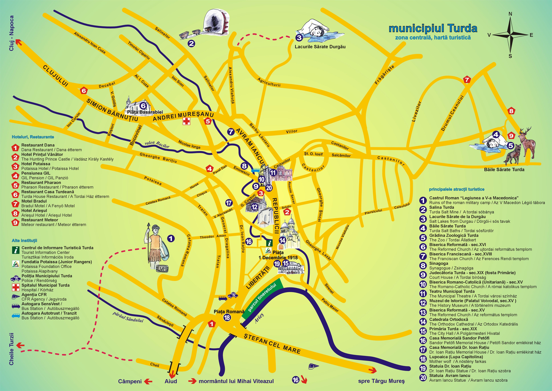 Turda Tourist Map See map details From potaissa.ngo.ro