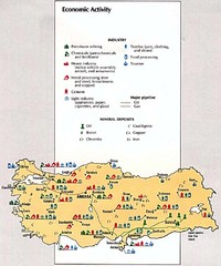 Turkey Economic Activity Map