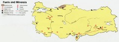 Turkey Fules and Minerals map