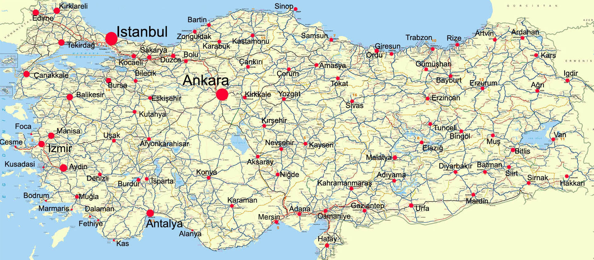 Turkey Map Turkey mappery