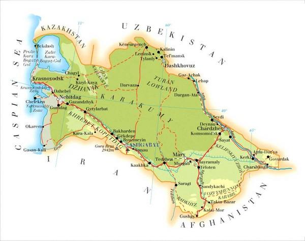 Turkmenistan Map - Turkmenistan • mappery