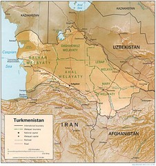 Turkmenistan Physical Map