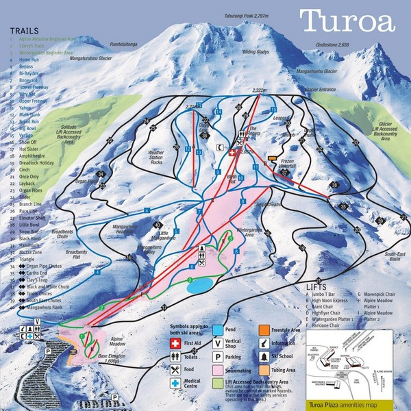 Turoa Ski Trail Map