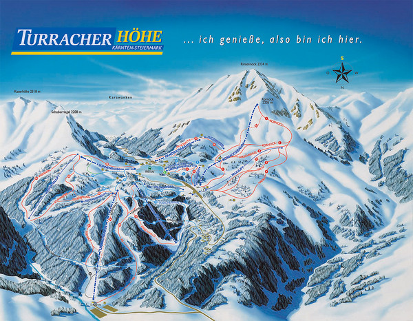 Turracher Höhe Ski Trail Map