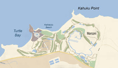 Turtle Bay - Oahu - Map-illustrator.com Map