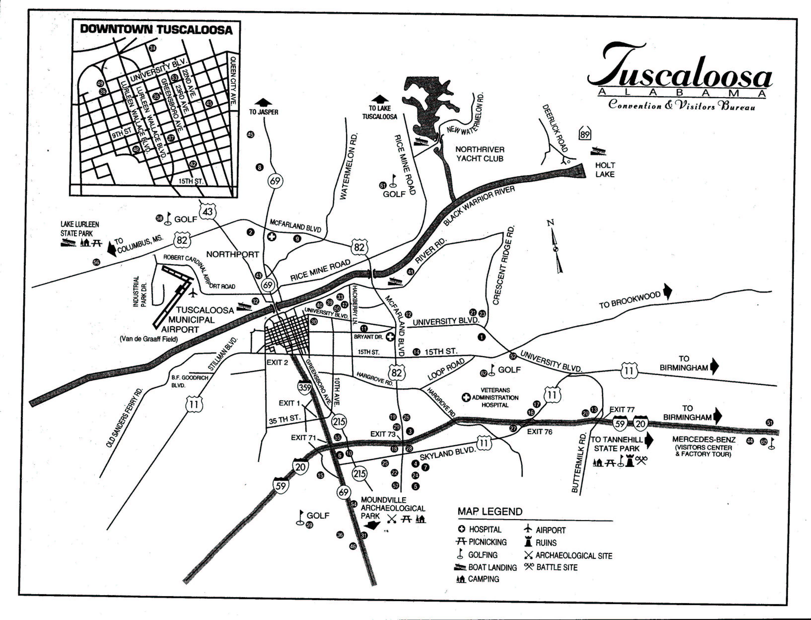 Tuscaloosa Map Tuscaloosa AL mappery