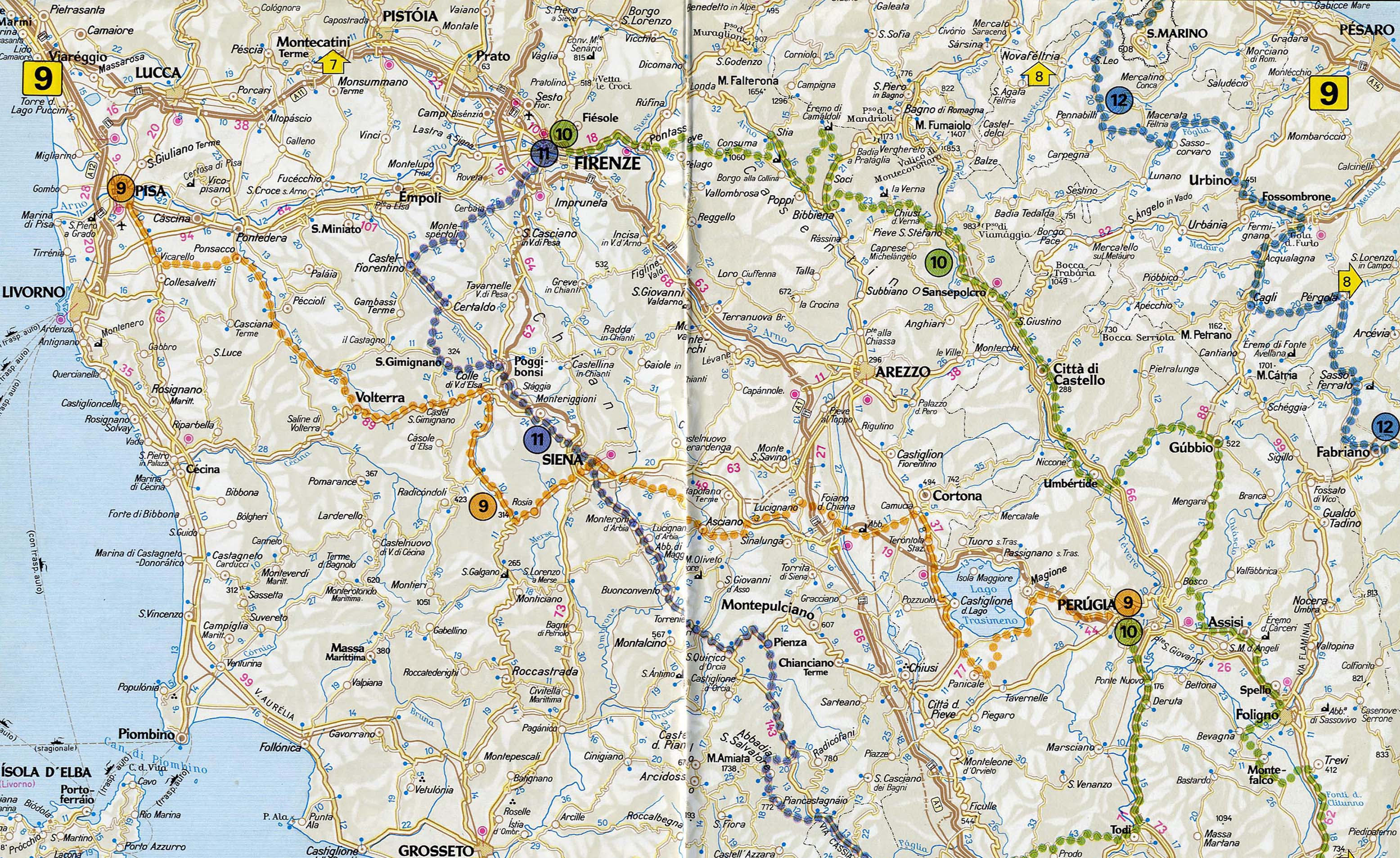Tuscany Road Map Tuscany Italy Mappery - Map tuscany
