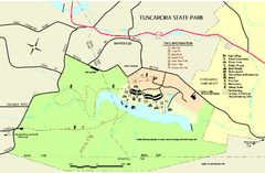 Tuscarora State Park Map