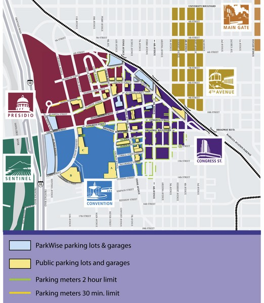 Map University Of Arizona.Tuscon Map Tuscon Az Usa Mappery