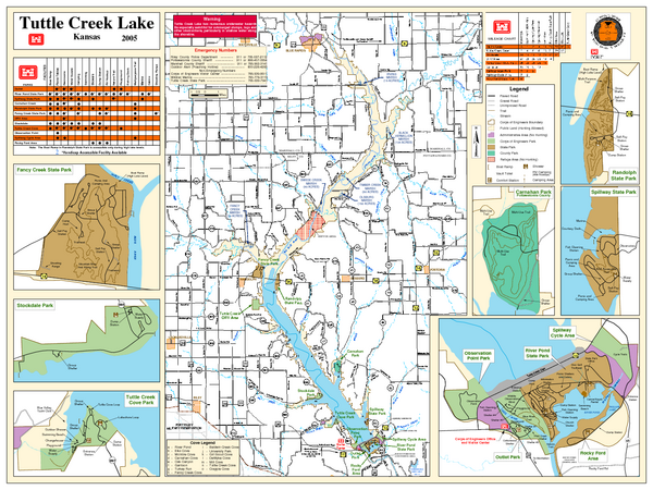 Tuttle Creek Lake Map