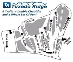 Tuxedo Ridge Ski Trail Map
