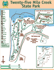 Twenty-Five Mile Creek State Park Map