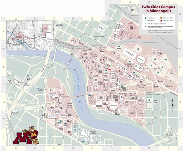 u of mn campus map Twin Cities Campus Map Twin Cities Campus Minneapolis Mn Usa u of mn campus map